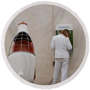 Painter On Call Round Beach Towel