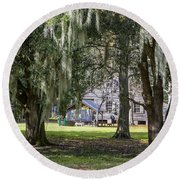 On Destrehan Plantation Round Beach Towel