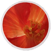On Fire For You Round Beach Towel