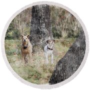 On Guard - Featured In Comfortable Art Group Round Beach Towel