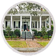 On Guard In New Orleans Round Beach Towel
