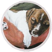 On Guard Round Beach Towel by Michael Dillon