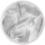 On Her Wedding Day Round Beach Towel