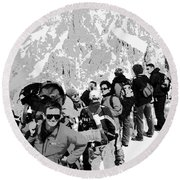 On Mount Blanc Round Beach Towel