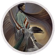 On Sacred Ground Series I Round Beach Towel