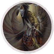 On Sacred Ground Series IIl Round Beach Towel