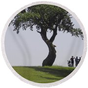 On The Banks Of The Baltic Sea Round Beach Towel