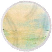 On The Bay Round Beach Towel
