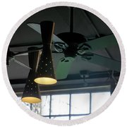 On The Ceiling Round Beach Towel