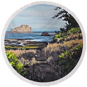 On The Coast Round Beach Towel
