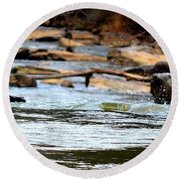 On The Creek Round Beach Towel