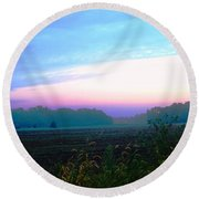 On The Edge Of A Storm Round Beach Towel