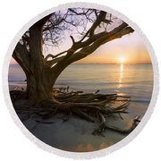On The Edge Of The Surf Round Beach Towel