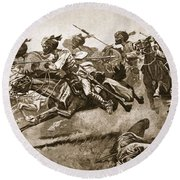On The Expedition To Pao-ting-fu A Round Beach Towel by Stanley L. Wood