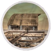 On The Farm Round Beach Towel by Jane Linders