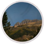 On The Going To The Sun Road  Round Beach Towel