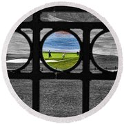 On The Green Round Beach Towel
