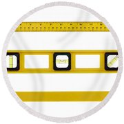 On The Level Round Beach Towel