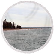 On The Point Round Beach Towel