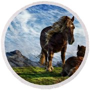 On The Range Round Beach Towel