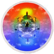 On The Rise Round Beach Towel