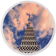 On The Riviera Stairway To Heaven Palm Springs Round Beach Towel
