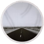 Driving Across America Round Beach Towel