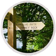 On The Road To Ruin Round Beach Towel