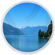 On The Road To Whistler Round Beach Towel