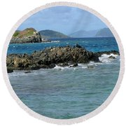 On The Rocks 02 Round Beach Towel