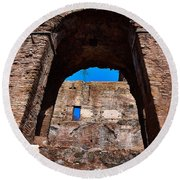 On The Ruins Of An Emipire Round Beach Towel