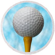 On The Tee Round Beach Towel