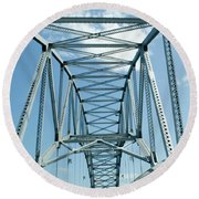 On The Way To Cape Cod Round Beach Towel