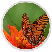 On The Wings Of A Butterfly Round Beach Towel