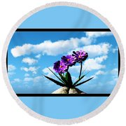 On Top Of The World... Round Beach Towel