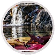 On Waters Edge Round Beach Towel