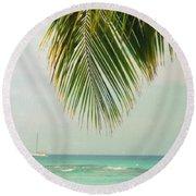 On Your Horizon  Round Beach Towel