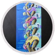 On Your Marks Round Beach Towel