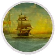 Once In A Bottle Round Beach Towel