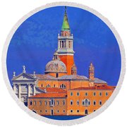 Once Upon A City Round Beach Towel