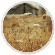 Once Upon A Memory Round Beach Towel