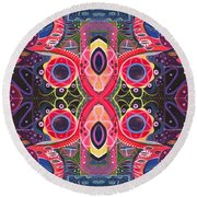Once Upon A Time 2 - The Joy Of Design Xlll Arrangement Round Beach Towel