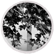 Once Upon A Time In Bw Round Beach Towel