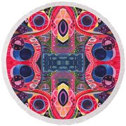 Once Upon A Time - The Joy Of Design Xlll Arrangement Round Beach Towel