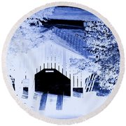 Once Upon A Winter's Eve Round Beach Towel