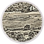 Once Upon The Long Ago Round Beach Towel