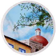 One Fine Day In Cuba Round Beach Towel
