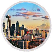 One Fine Skyline Round Beach Towel