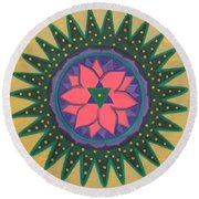 One Gold Bindu Round Beach Towel