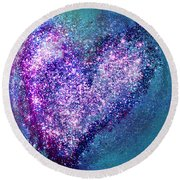 One Heart One Earth Round Beach Towel